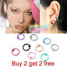 G2B Surgical Steel Hoop Ring Piercing Ball Closure Lip Ear Nose Eyebrow Nipple