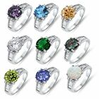 Amethyst,Blue Topaz,Clear, Champagne, Emerald, Peridot,Mystic,Opal Sterling Ring