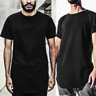Men's T-Shirt Long Extended Basic Fashion Fit Tee Casual Hip Hop Crew Neck Sales