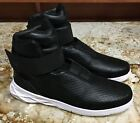 NIKE Hunter Swoosh Black Lifestyle Leather High Top Shoes...