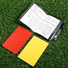 Sporting Football Soccer Referee Wallet Notebook with Red Card and Yellow Card