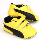 Newborn Baby Boy Soft Sole Yellow Crib Shoes Toddler Pre Walkers Sneakers 0-18 M