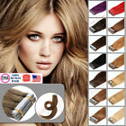 22Inch 55cm Hair Extensions Seamless Tape in Skin Weft Remy Human Hair USA Stock