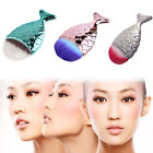 Fashion Cosmetic Brush Fishtail Travel Fish Scale Makeup Powder Blusher Portable