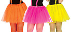 Ladies Neon Tutu 80s 1980s Eighties Disco Hen Pink Yellow Yellow Fancy Dress