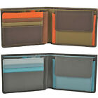 Mywalit Large Mens Soft Leather 6 Card Coin Purse Wallet 136