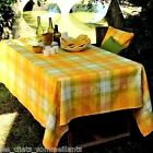 GARNIER-THIEBAUT, MILLE PANACHE CANARY FRENCH WOVEN TABLECLOTH(S), 3 SIZES, NEW