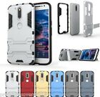 Hybrid Defender MOTO G4 Play Back Case cover + Stand + PC Dual Armor Shield