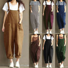 Oversized Women Strap Loose Jumpsuit Casual Dungaree Harem Trousers Overall Pant