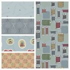 ***CLEARANCE FABRIC***  LEWIS & IRENE THREADED WITH LOVE -  COLOUR RANGE 2