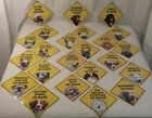 "22 Breed-DOG ""(BREED) ON BOARD"" Car Window Sign New w /Suction Cup 5�x 5� Plastic"