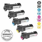 5 Pack BLACK & COLOR 106R01334 Toner Cartridge Set for Xerox Phaser 6125N