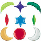 Qualatex Shaped: Star, Taper, Round, Heart, Palm Frond, Moon Foil Party Balloons