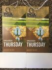 Two(2) 2017 PGA Championship Tickets 8/10/17 - Thursday Opening Round