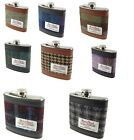 Harris Tweed Hip Flask Stainless Steel 6oz Measurement In Various Colours