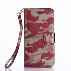 Army Camo Camouflage Flip Wallet Case For iPhone 6 Plus  and iPhone 7 7 Plus