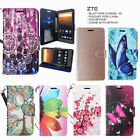 For ZTE Max XL, Blade Max 3, ZMax Pro, Max Duo LTE, Case Wallet Leather Pouch