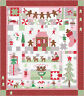 Moda Sugar Plum Christmas Mouse Quilt Kit Fabric & Pattern by Bunny Hill Designs
