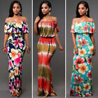 Us Women Summer Dress Boho Maxi Long Evening Party Dress Beach Dress Sundress