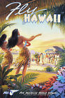 Hawaii Travel Advertisement Poster Hawaiian Vintage Retro Reprint Ready to Frame