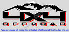 4X4 SNOW CAPPED MOUNTAINS TRUCK BED SIDE DECAL FITS ALL: CHEVY 1500 2500 3500