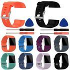 Sport Silicone Replacement Band Wrist Strap Wristband Tool Set For Fitbit Surge