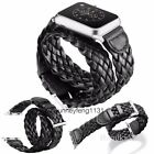 Double Tour Bracelet Braided Microfiber Leather for Apple Watch Band Strap Wrist