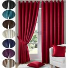 MADISON ONE PAIR FULLY LINED EYELET RING TOP READY MADE WINDOW CURTAIN CURTAINS