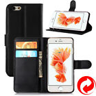 Apple iPhone 6 Plus / 6S Plus Leather Wallet Case Cover Stand Folio Card Pouch