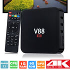 Hot V88 Smart TV Box RK3229 Quad Core 4K WIFI HDMI 8G Android 7.1 Media Player