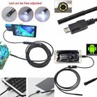 1/1.5/2/5M 7mm Android Endoscope Waterproof Borescope Inspection Camera 6LED lot