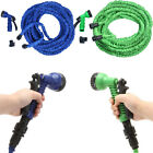 Latex Deluxe 25 50 75 100 FT Expanding Flexible Garden Water Hose +Spray Nozzle