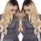100% Brazilian Remy Human Hair Lace Front Wig Full Lace Wigs Ombre Color T#2/24
