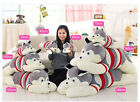 Giant big Huge Siberian Husky Plush Baby Soft Smiling toys doll Cuddly Gift