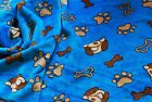 Double Sided Supersoft Cuddlesoft Fleece Fabric Material - DOG & BONE TURQUOISE