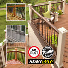 10 x Powder Coated Metal Garden Decking Rails Railing Panel Spindles Infill Kit