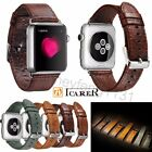 iCarer Genuine Leather Wrist Strap For Apple Watch Band iWatch 38mm / 42mm