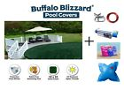Buffalo Blizzard Round Swimming Pool Winter Cover w/ Pillow, Seal & Closing Kit