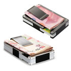 Men Stainless Steel Elastic Band Money Clip ID Credit Card Holder Wallet Purse