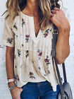 Fashion Women's Summer Loose Top Short Sleeve Blouse Ladies Casual Tops T-Shirt