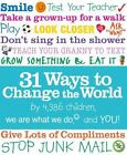 31 Ways to Change the World by We are What We Do Staff
