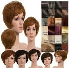 LADIES HUMAN HAIR HIGH QULITY SOFT LAYERED SHORT WIG SWEEPING BANG COMFORTABLE