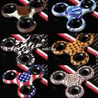 Camouflage Fidget Hand Spin EDC Tri Spinner Focus Toys ADD ADHD Anxiety S0BZ