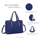 Ladies Celebrity Handbag PU Leather Slouchy Hobo Tote Shoulder Bag Pompom