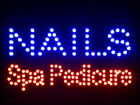 """nled097-b Nails Spa Pedicure LED Neon Sign 16"""" x 10"""""""