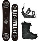 Elan FREAK 149cm BW Snowboard+Flow LTD Bindings+Flow BOA LTD Boots NEW