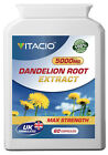 Dandelion Root Extract 5000mg Pills, detox, Fat digestion, lower cholesterol