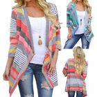 Womens Knitted Cardigan Loose Boho Long Sleeve Sweater Outwear Jacket Coat Tops