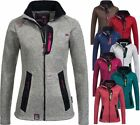Geographical Norway Damen Strick Fleecejacke Tazzera Fleece Jacke Freizeit Sport