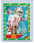 1986 86 TOPPS JERRY RICE ROOKIE CARD #161